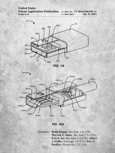 Reversible Usb Patent-Cole Borders-Art Print