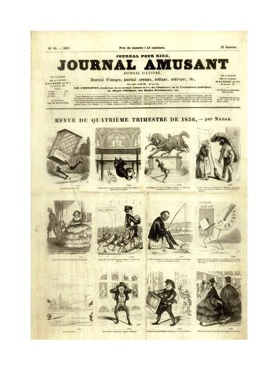 Review of the Fourth Quarter of 1856, from the 'Journal Amusant', 17 January 1857-Nadar -Giclee Print