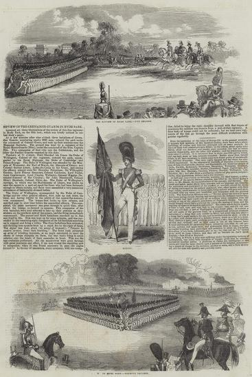 Review of the Grenadier Guards in Hyde Park--Giclee Print