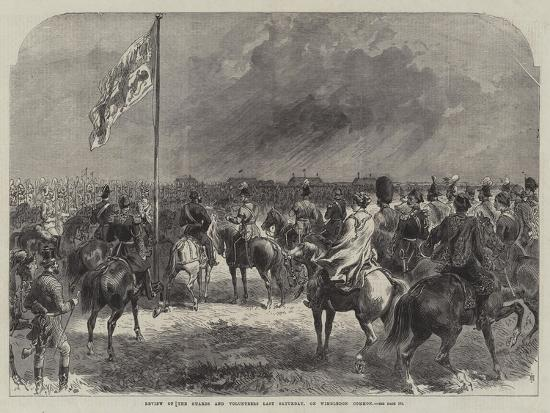 Review of the Guards and Volunteers Last Saturday, on Wimbledon Common--Giclee Print