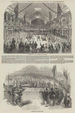 Revival of Old Christmas Festivities at Manchester--Giclee Print
