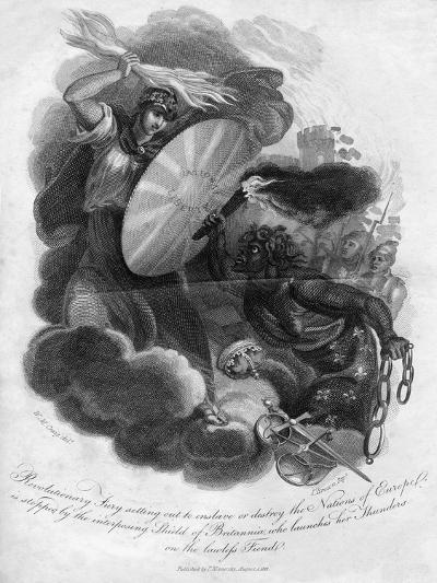 Revolutionary Fury Setting Out to Enslave or Destroy the Nations of Europe, 1816-I Brown-Giclee Print
