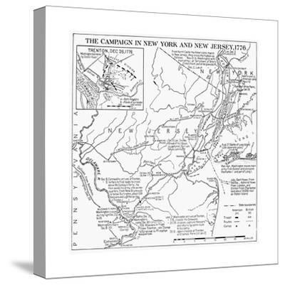 Revolutionary War Map, 1776