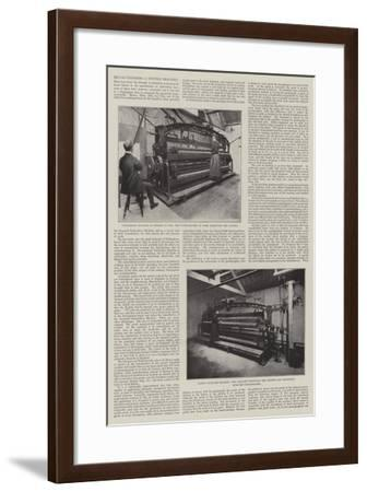 Revolutionising a Textile Industry--Framed Giclee Print