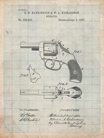 Revolving Firearm Patent-Cole Borders-Art Print