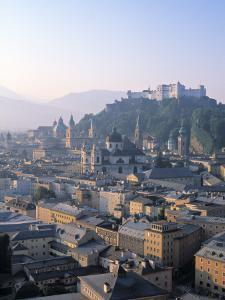 Alt Stadt and Hohensalzburg Fortress, Salzburg, Austria by Rex Butcher