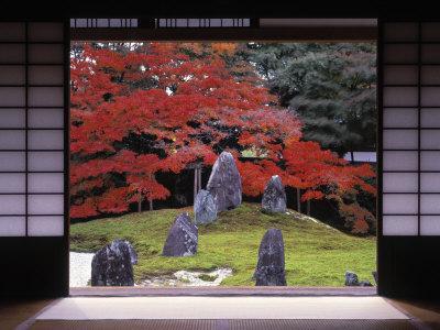 Sand Stone Garden, Komyo-In, Kyoto, Japan