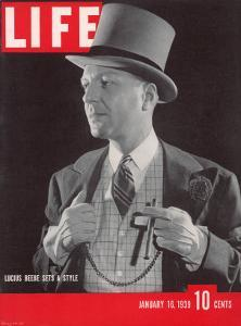 Columnist and Fashion Trendsetter Lucius Bebe, January 16, 1939 by Rex Hardy Jr.