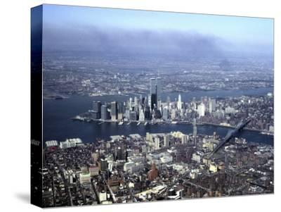 Aerial View of the Twin Towers of the World Trade Center