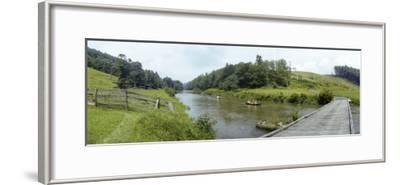 Bridge Crosses a River in Rural North Carolina