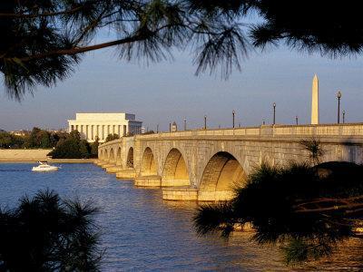 Looking Across Arlington Memorial Bridge To Washington, Dc