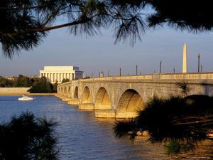Looking Across Arlington Memorial Bridge To Washington, Dc by Rex Stucky