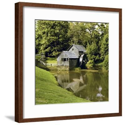 Mabry Mill is Reflected in the Quiet Waters of a Creek