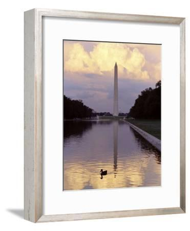 Twilight View of the Washington Monument and the Reflecting Pool