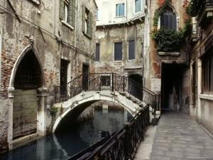 View of a Canal in a Quiet Residential Section of Venice by Rex Stucky