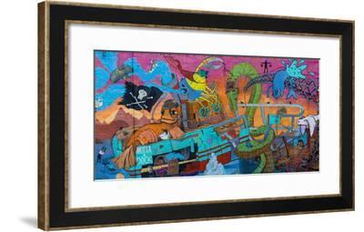 Reykjavik, Facade, Colourful, Graffiti-Catharina Lux-Framed Photographic Print