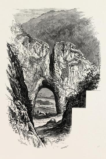 Reynard's Cave, Dove Dale, the Dales of Derbyshire, Country, UK, 19th Century--Giclee Print