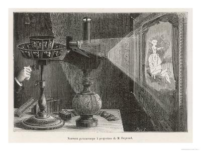 Reynaud's Praxinoscope Adapted for Projection onto a Screen- Poyet-Giclee Print