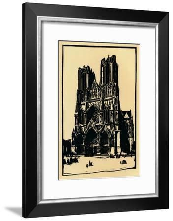 'Rheims Cathedral ', 1914, (1918)-Allan Douglass Mainds-Framed Giclee Print