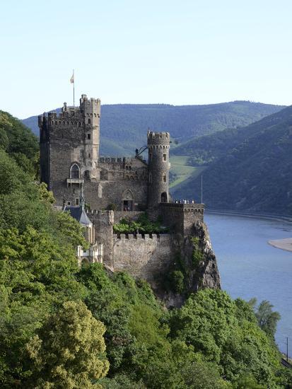 Rheinstein Castle Near Trechtingshausen, Rhine Valley, Rhineland-Palatinate, Germany, Europe-Hans Peter Merten-Photographic Print