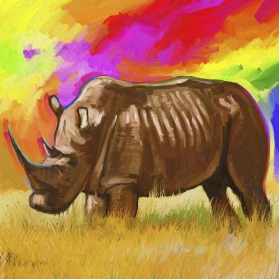 Rhino 2-Howie Green-Giclee Print