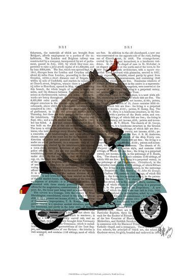 Rhino on Moped-Fab Funky-Art Print