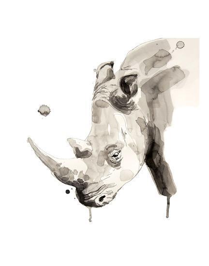 Rhino-Philippe Debongnie-Art Print