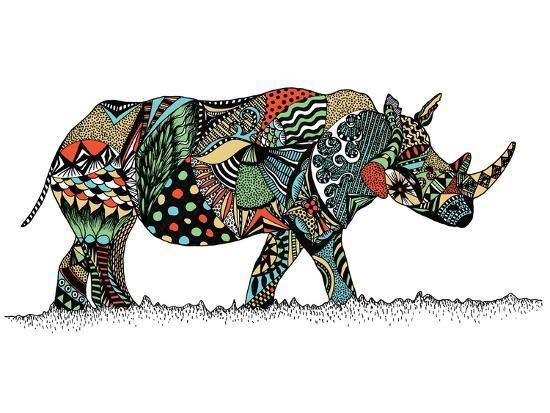 Rhino-Patricia Pino-Art Print