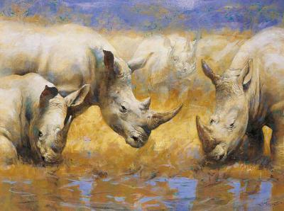 Rhinoceros-Joaquin Moragues-Art Print