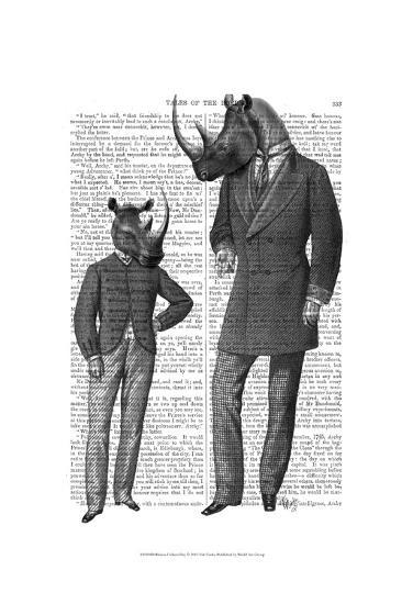 Rhinos Fathers Day-Fab Funky-Art Print