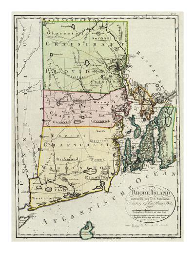 Rhode Island, c.1797-Daniel Friedrich Sotzmann-Art Print