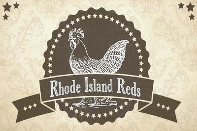 Rhode Island Reds 3--Giclee Print