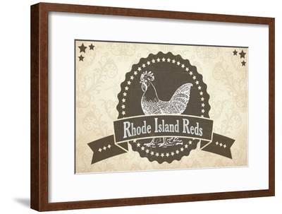 Rhode Island Reds 3--Framed Giclee Print
