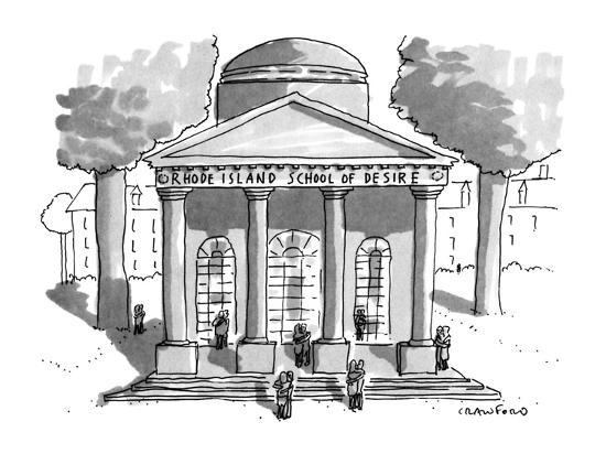 Rhode Island School of Desire - New Yorker Cartoon-Michael Crawford-Premium Giclee Print