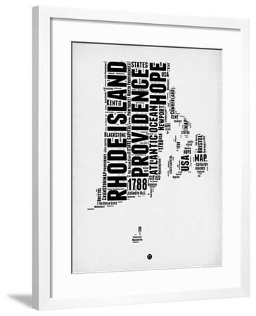 Rhode Island Word Cloud 1-NaxArt-Framed Art Print