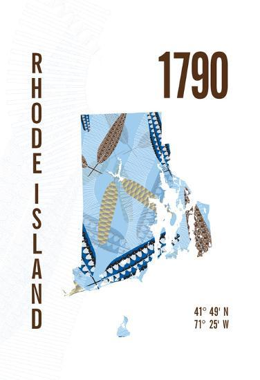 Rhode Island-J Hill Design-Giclee Print