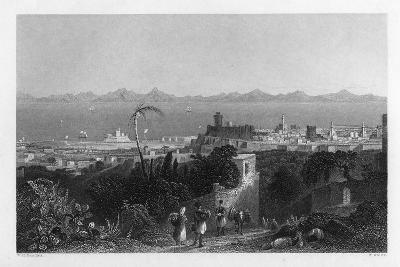 Rhodes, from the Heights Near Sir Sidney Smith's Villa, 1841-W Wallis-Giclee Print