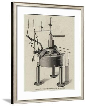 Rhodin's Patent Electrolytical Apparatus--Framed Giclee Print