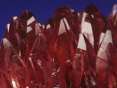 Rhodochrosite Crystals (Mnco3), an Ore of Manganese-Mark Schneider-Photographic Print