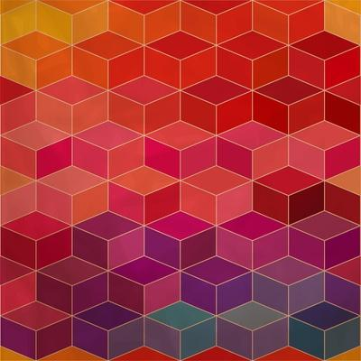 Rhombic Seamless Pattern.Seamless Pattern Can Be Used for Wallpaper, Pattern Fills, Web Page Backgr-Markovka-Art Print