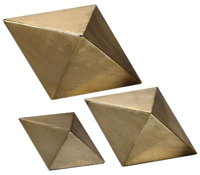 Rhombus Champagne Accent Trio--Home Accessories