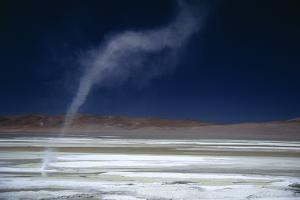 Salar Pujsa, Dust Devil, Atacama Desert, Chile by Rhonda Klevansky