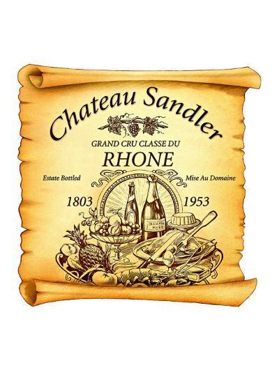 Rhone Wine Label--Giclee Print