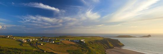 Rhossili Bay, Gower, Peninsula, Wales, United Kingdom, Europe-Billy Stock-Photographic Print