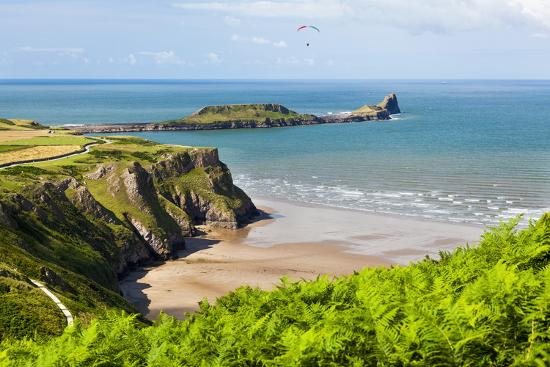 Rhossili Bay, Gower Peninsula, Wales, United Kingdom, Europe-Billy Stock-Photographic Print