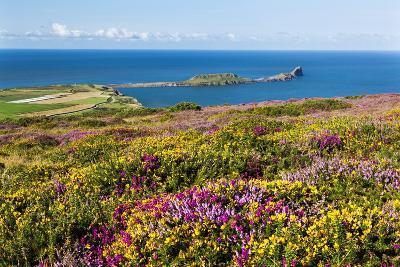 Rhossili Bay, Gower Peninsula, Wales, United Kingdom, Europe-Billy Stock-Photographic Print