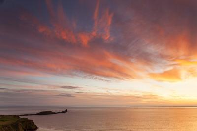 Rhossili Bay, Worms End, Gower Peninsula, Wales, United Kingdom, Europe-Billy Stock-Photographic Print