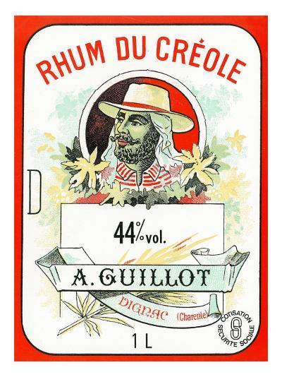 Rhum du Creole Brand Rum Label-Lantern Press-Art Print