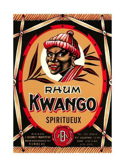 Rhum Kwango Label--Art Print
