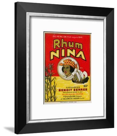 Rhum Nina Benoit Serres Brand Rum Label-Lantern Press-Framed Art Print